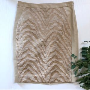 The Limited Pencil Skirt 4 Zebra Print Tweed Beige